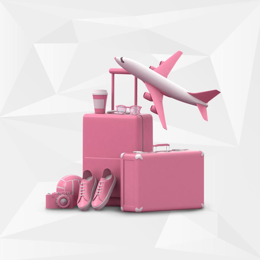 grafika letalo s kovčki
