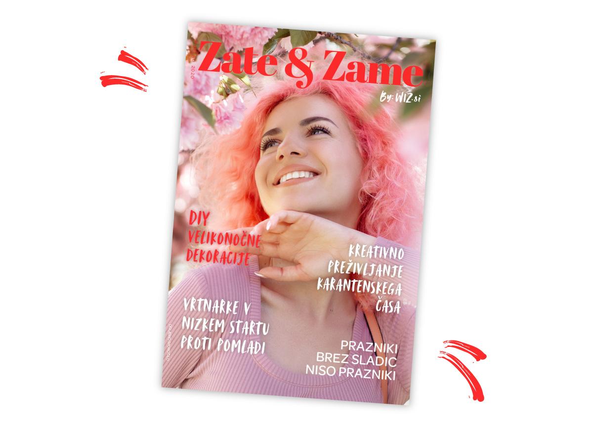 Naslovnica revije Zate & Zame pomlad 2020
