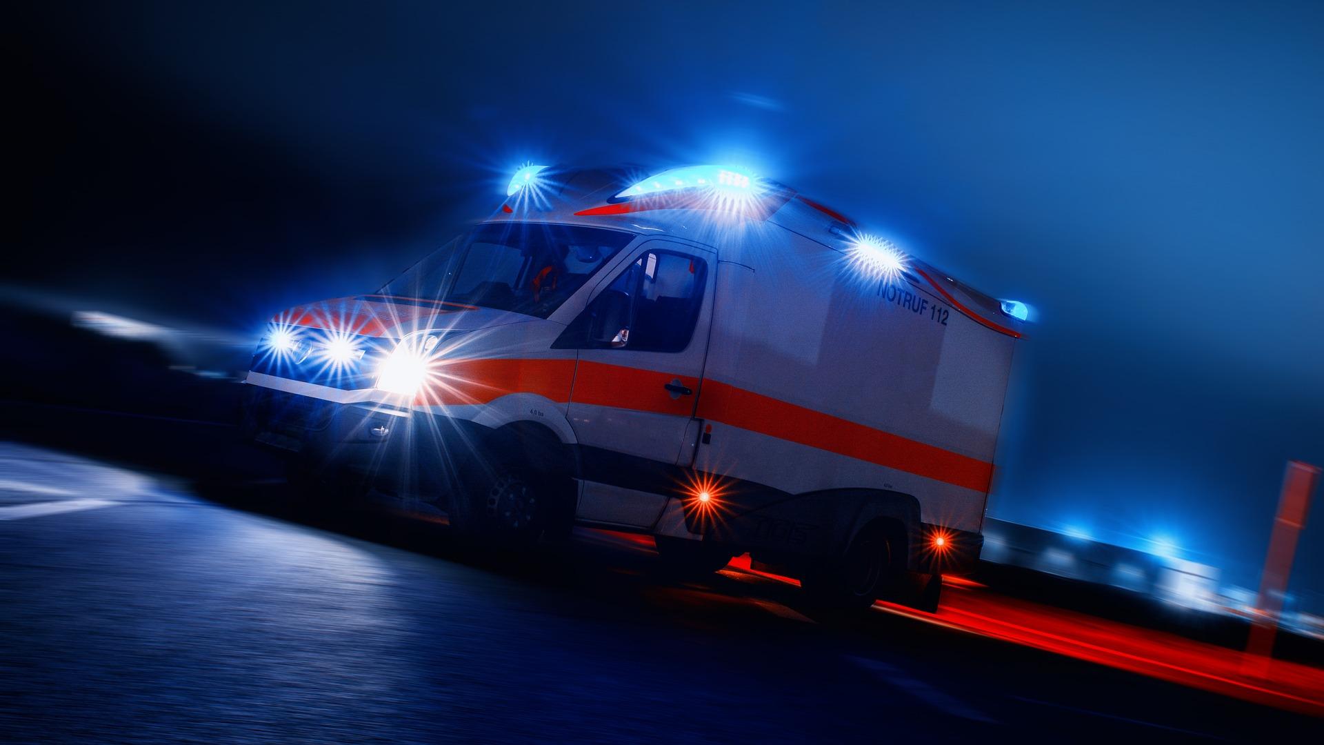 Modre luči reševalnega vozila