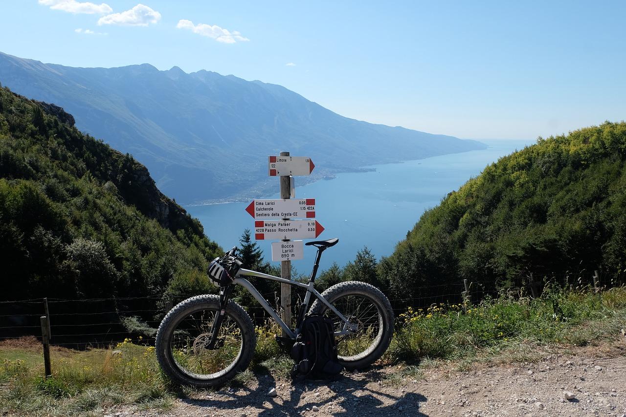 Kolo na kolesarski stezi nad Gardskim jezerom