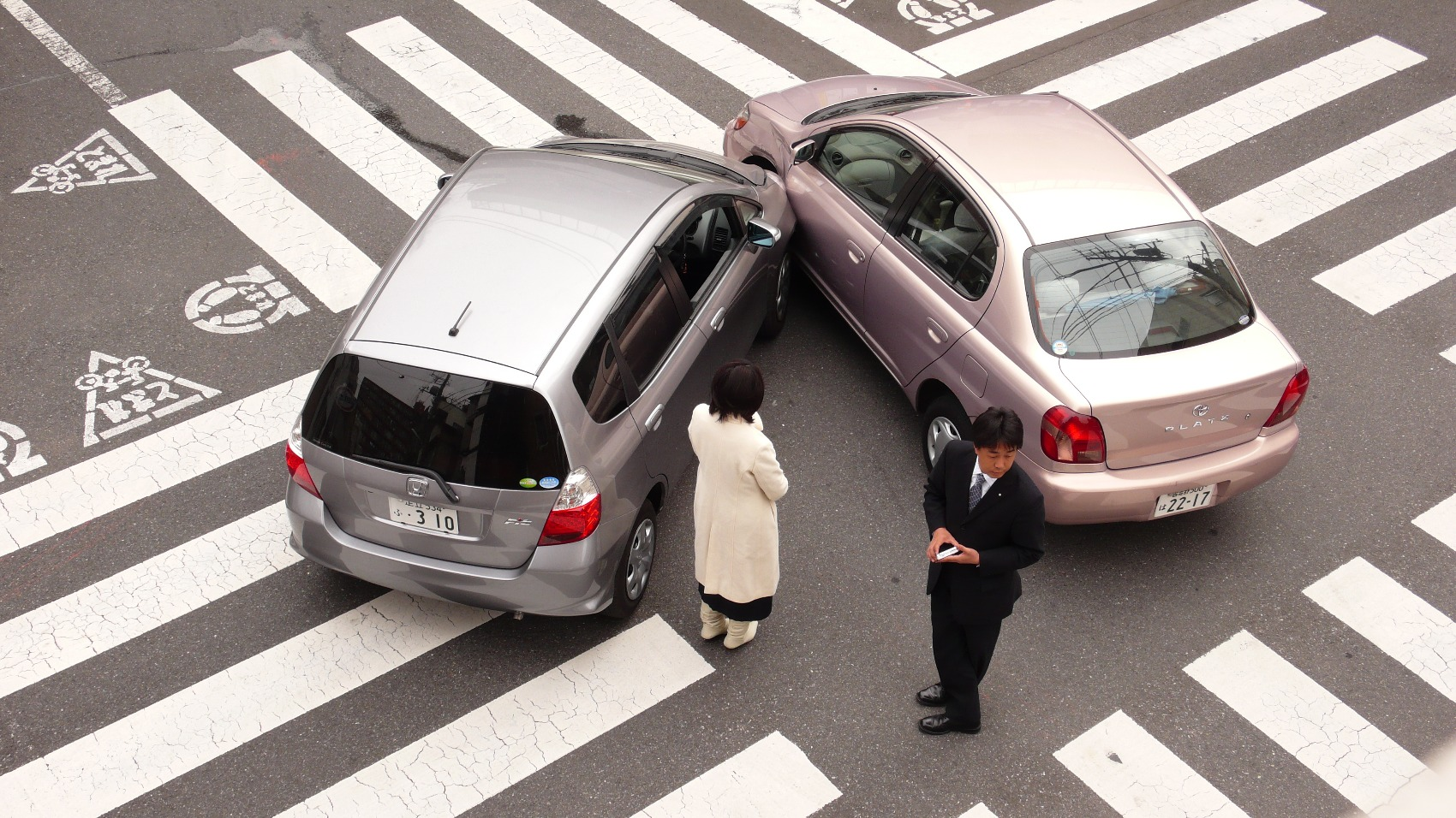 Prometna nesreča s tujcem